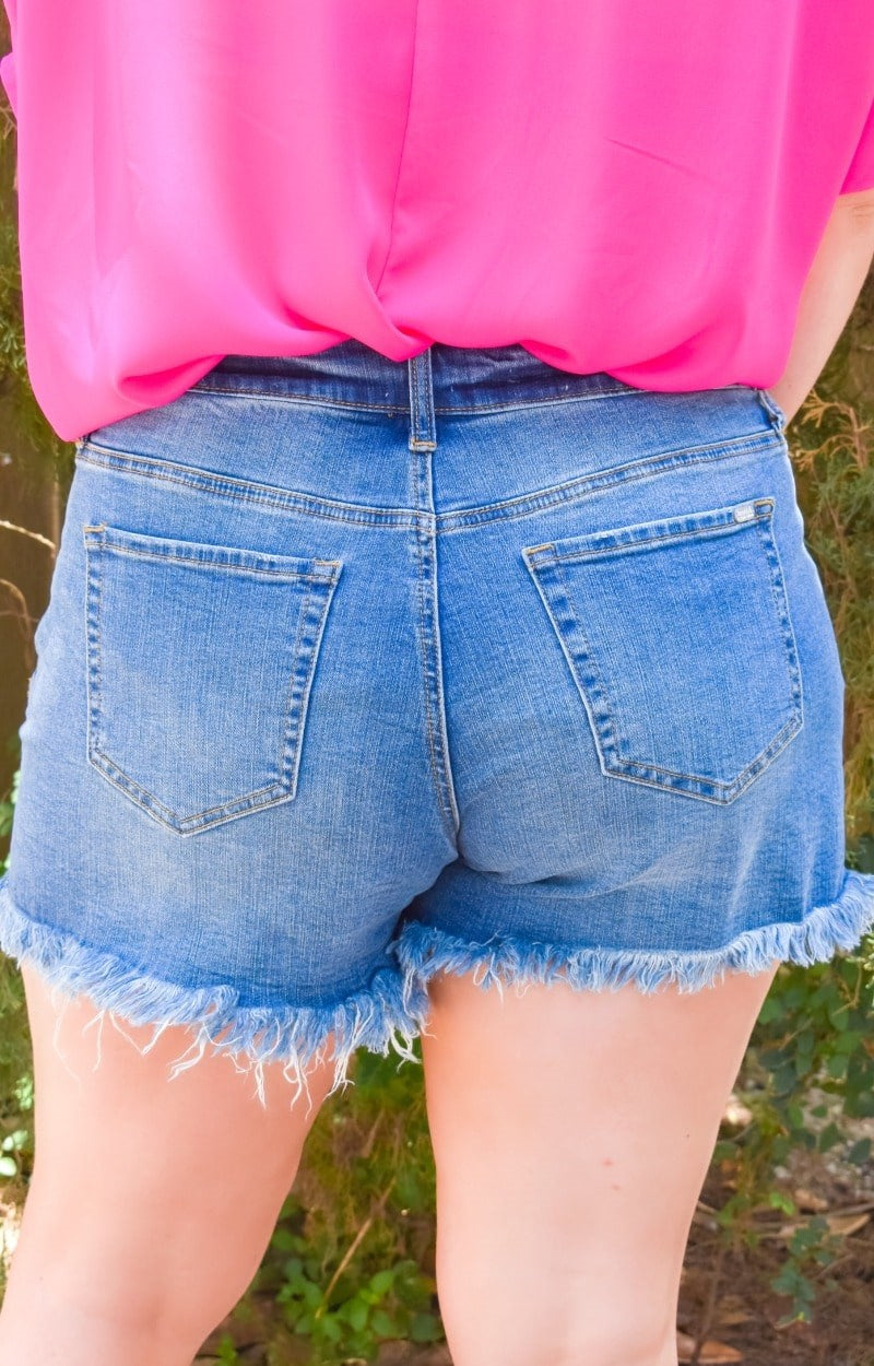 Lovely Thoughts Distressed Denim Shorts