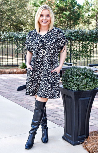 Ready For Fun Leopard Print Dress
