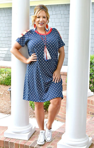 Star Spangled Beautiful Print Dress