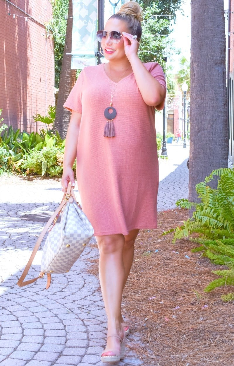Feels Like Heaven Dress - Salmon