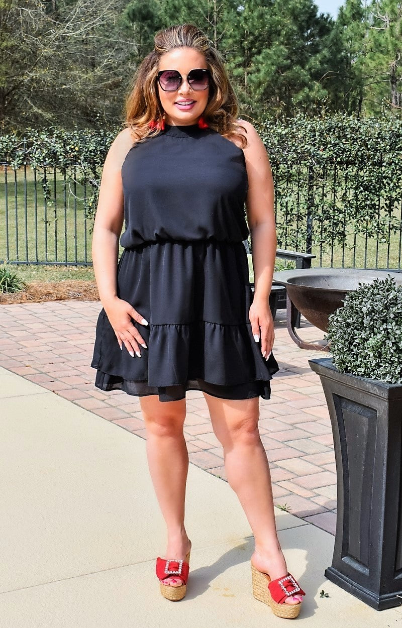 Load image into Gallery viewer, Eyes On The Prize Dress - Black