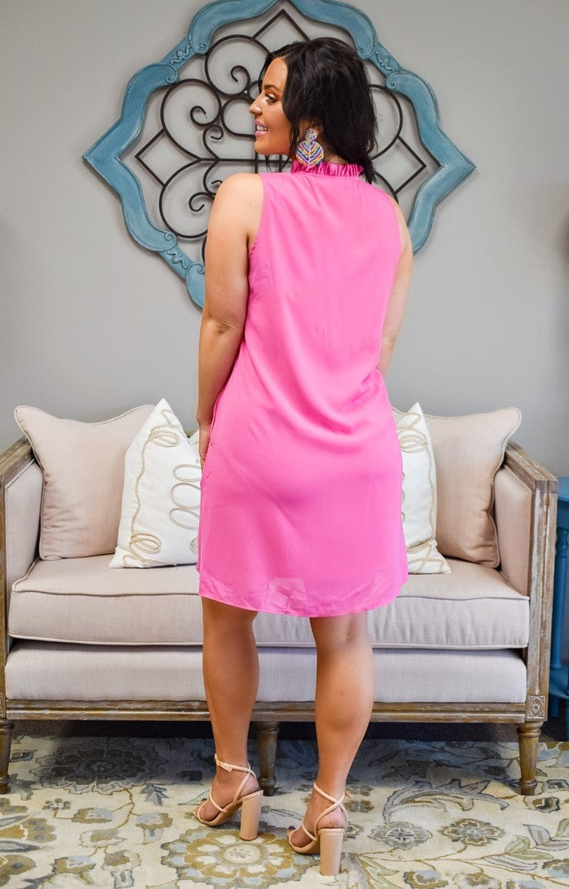 Think Again Dress - Hot Pink