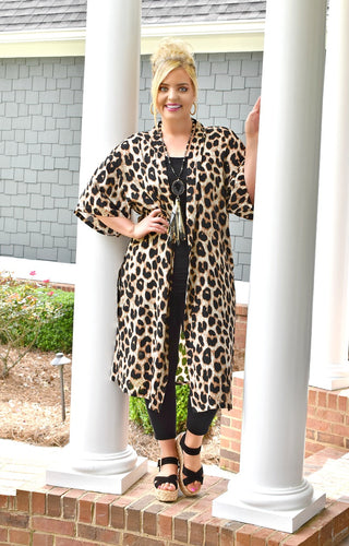 Wild Moments Leopard Print Duster