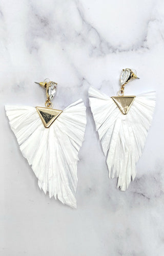All The Thrills Earrings - Ivory