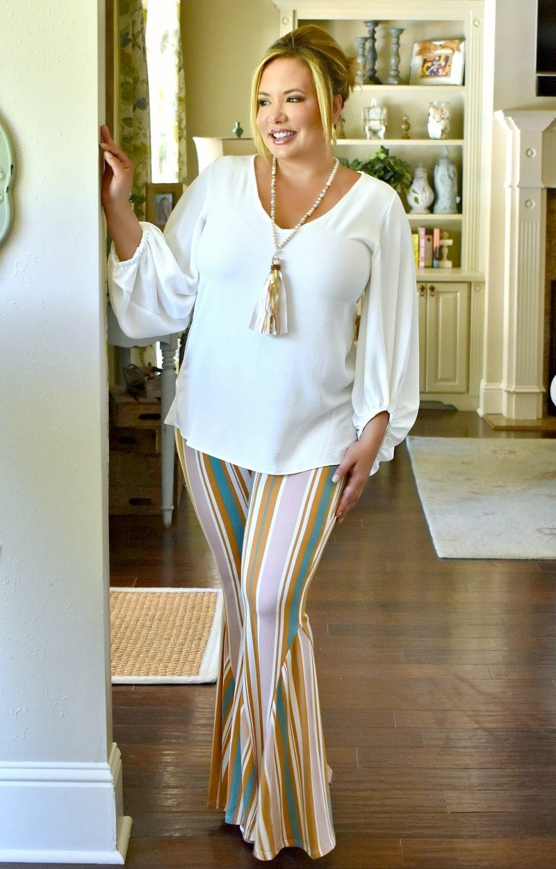 Load image into Gallery viewer, Early Start Striped Flare Pants - Multi