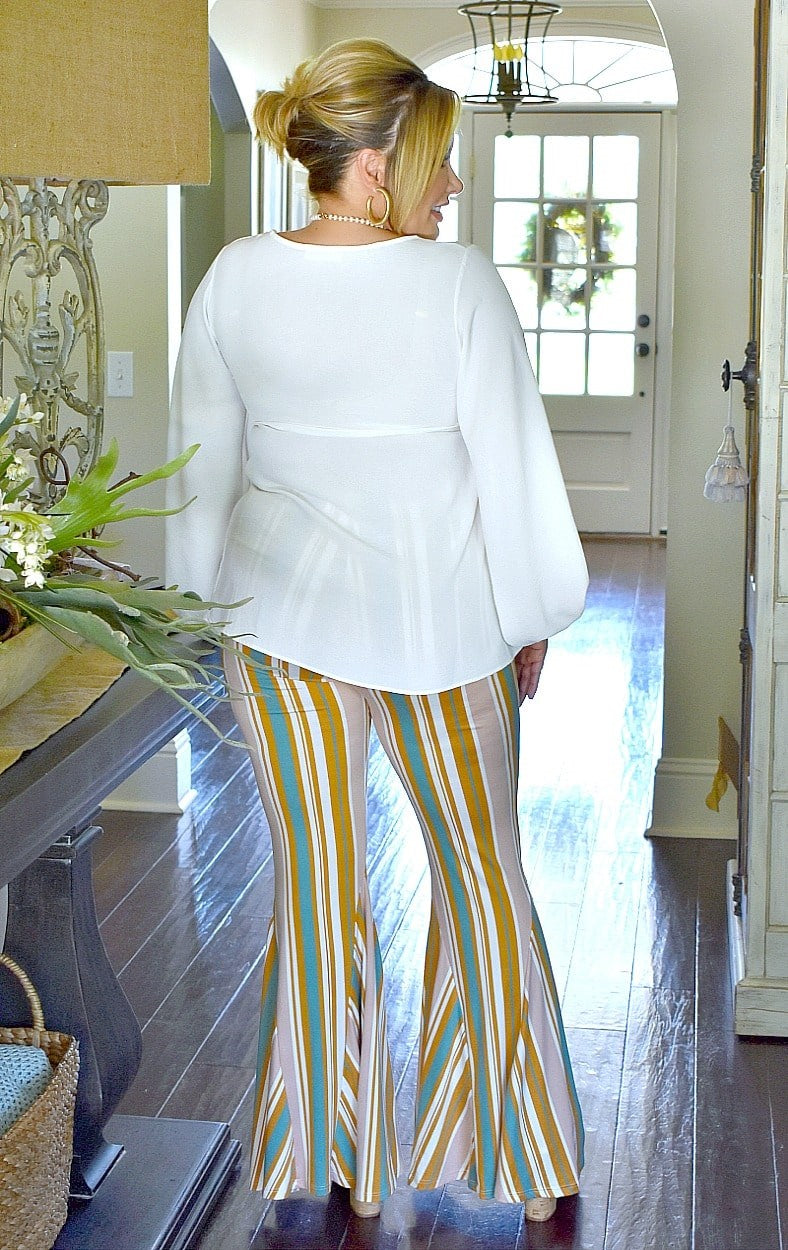Early Start Striped Flare Pants - Multi