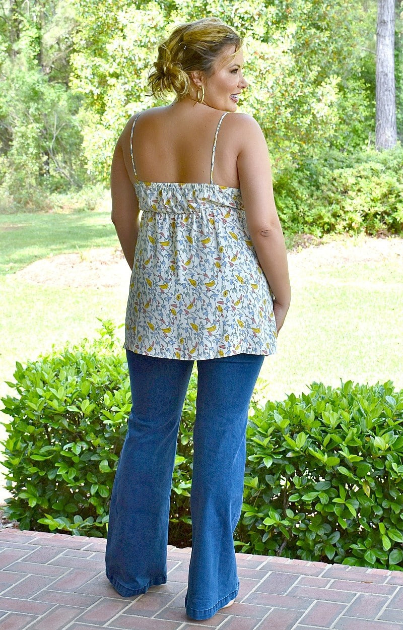 Make It Graceful Floral Top - White