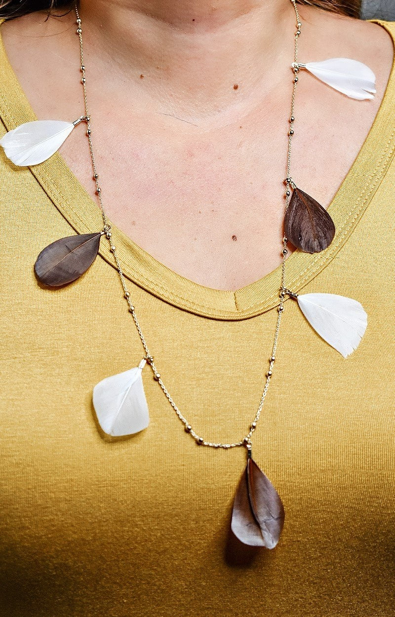 Sharing Secrets Necklace - White/Brown