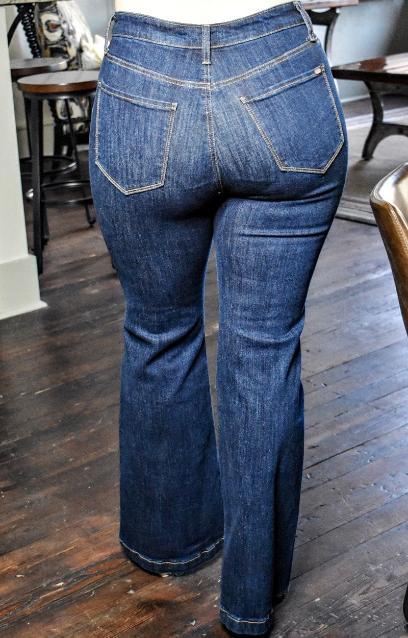 Load image into Gallery viewer, No Excuses Flare Jeans
