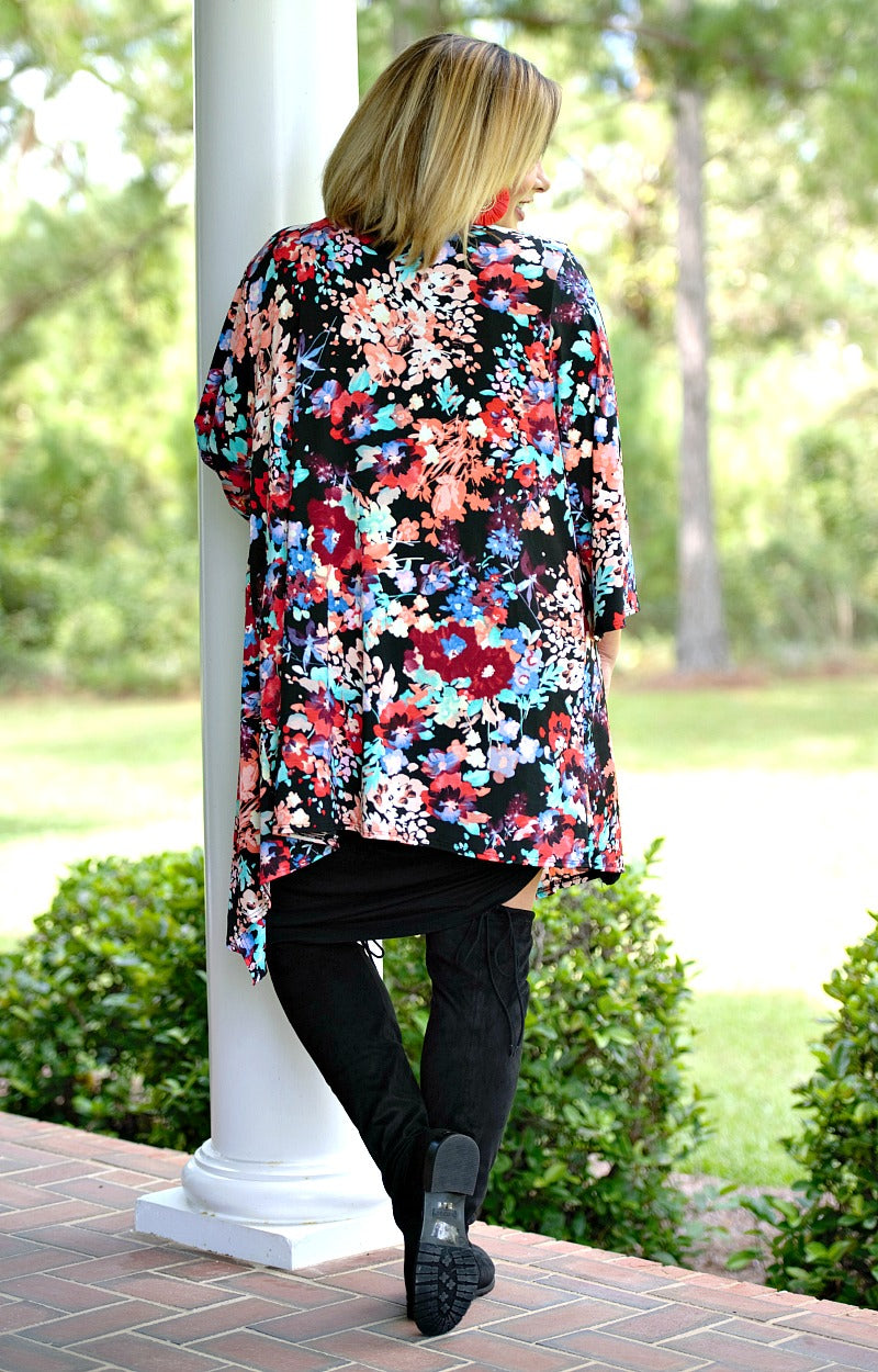 Load image into Gallery viewer, Better Days Floral Cardigan - Black