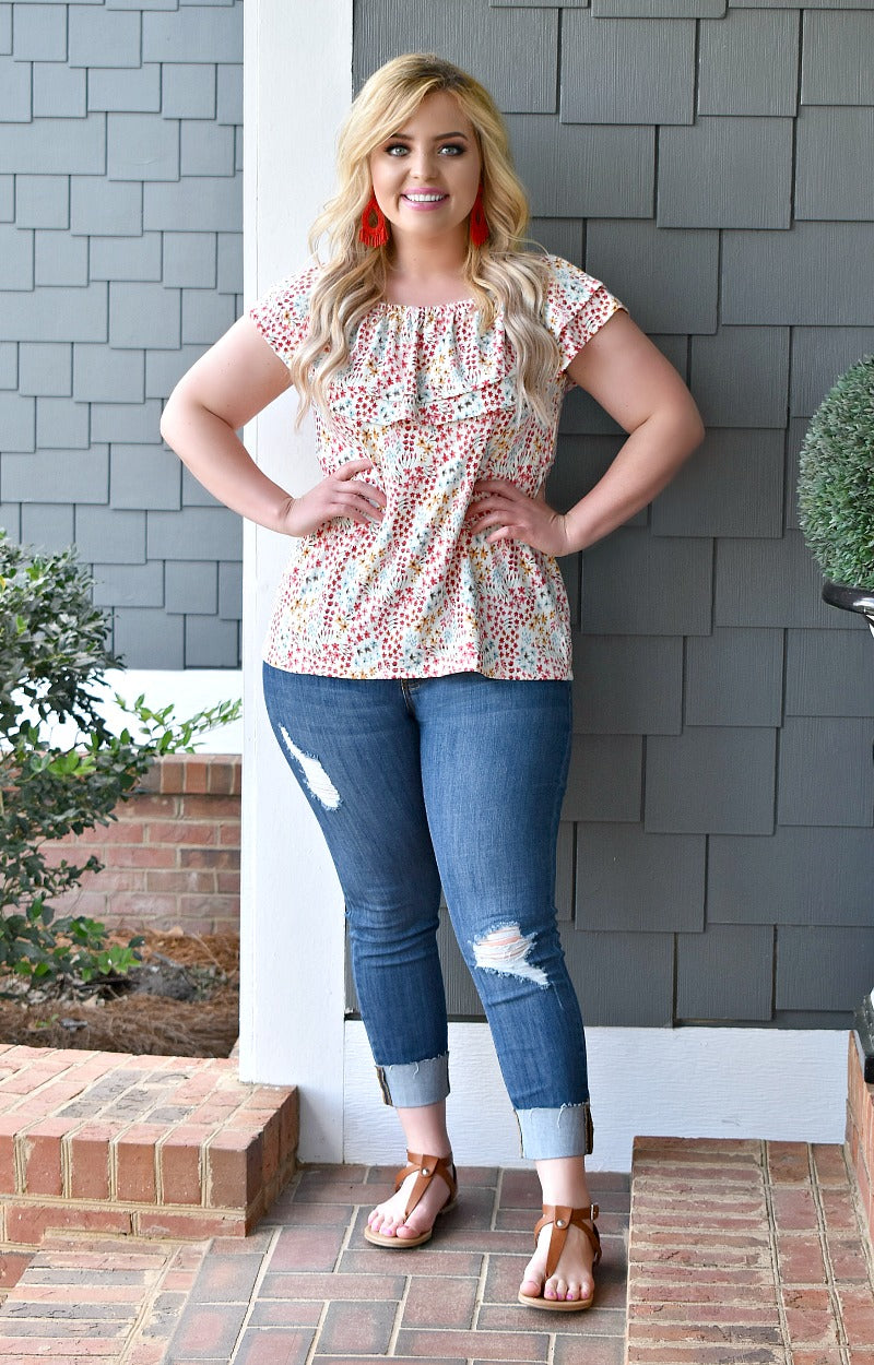 Load image into Gallery viewer, Good Karma Floral Top - Multi
