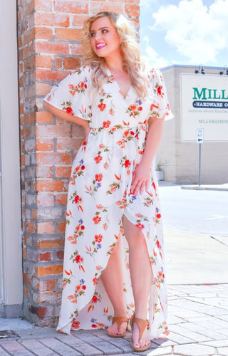 Breezy Blooms Floral Maxi Dress