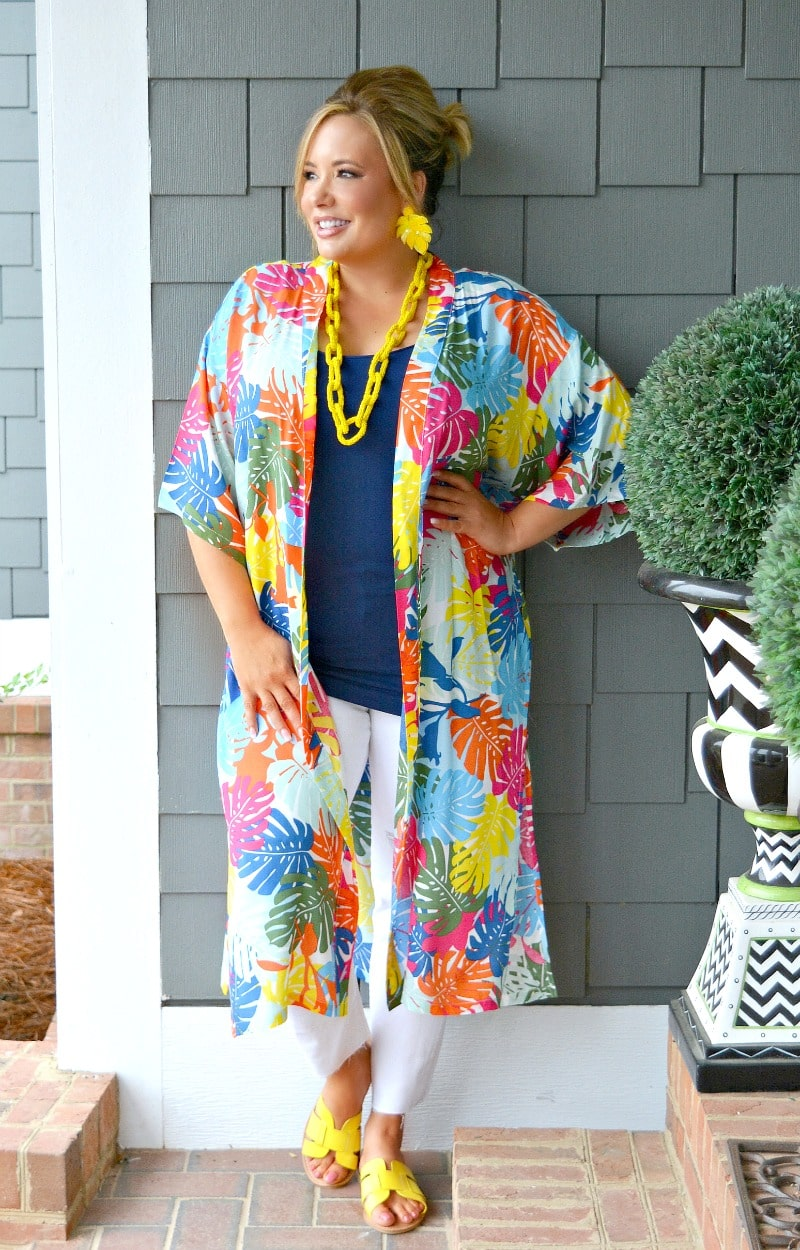 Cali Dreaming Print Duster - Multi