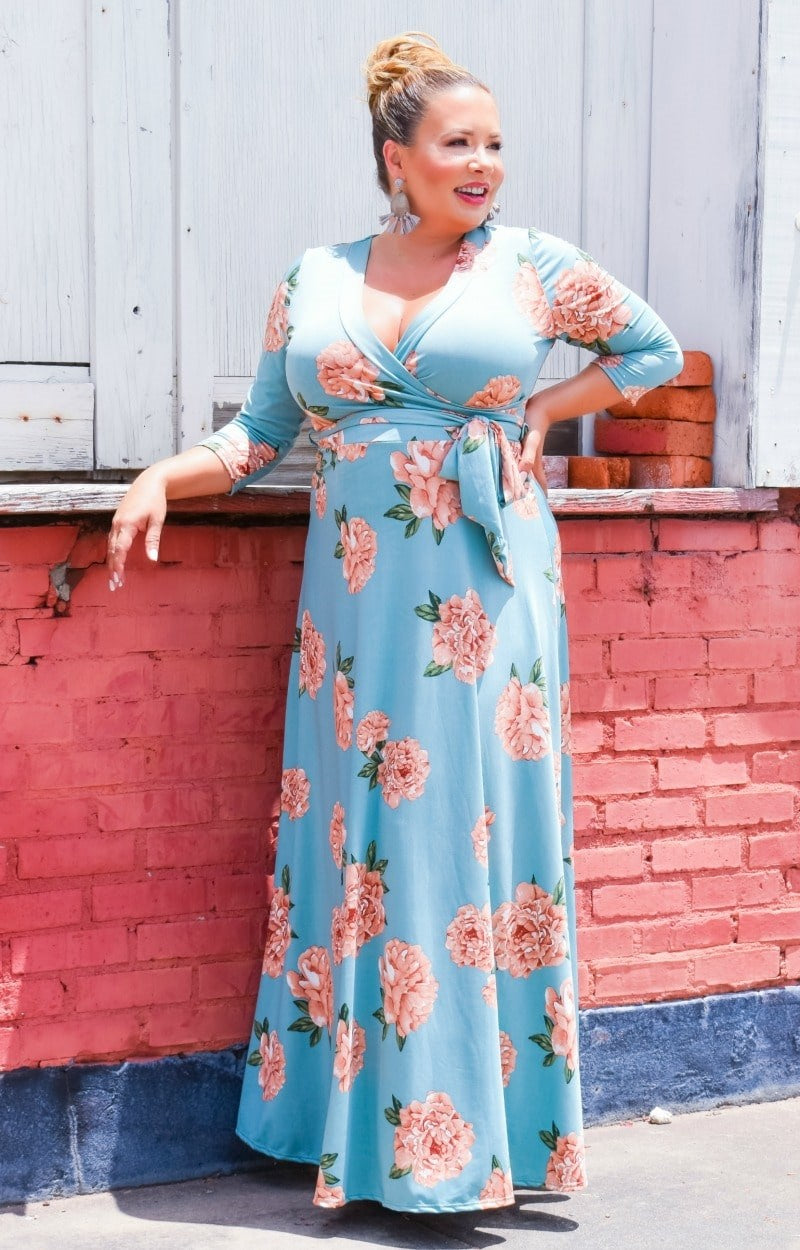 Load image into Gallery viewer, Untamed Love Floral Maxi Dress - Mint