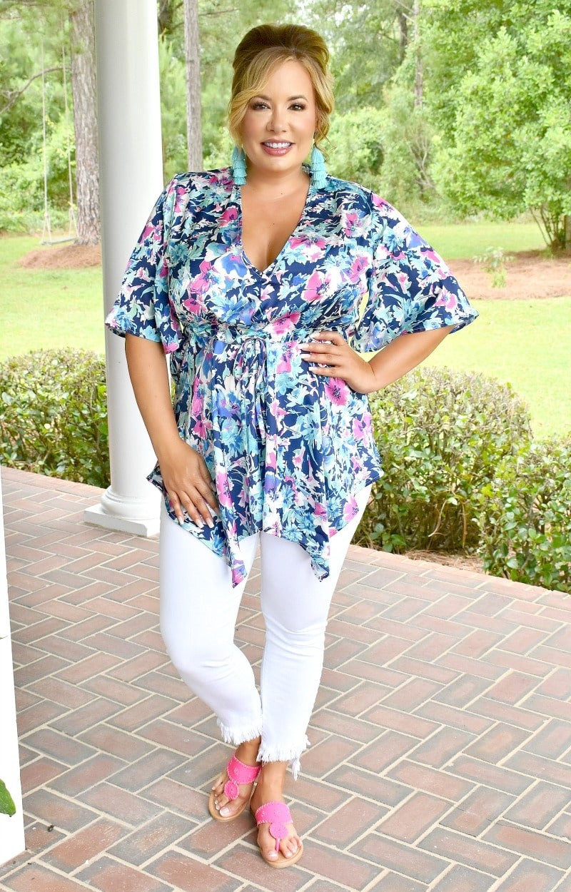 Let Love Flow Floral Top - Multi