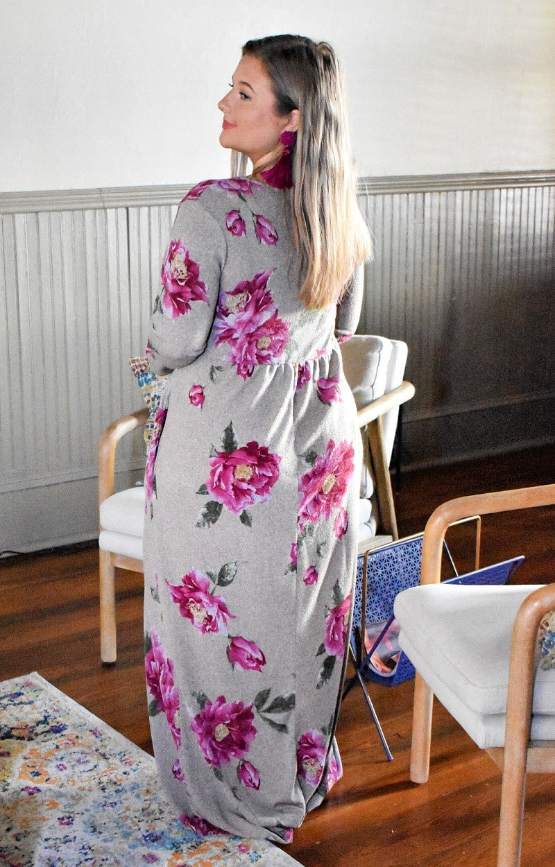 Load image into Gallery viewer, Good Feelings Floral Maxi Dress - Taupe