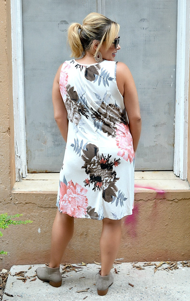 The Fun Never Stops Floral Dress - Cream
