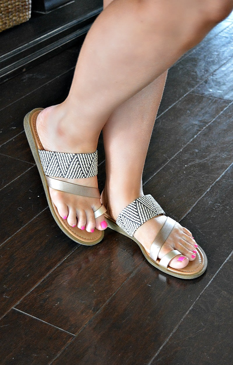 Load image into Gallery viewer, Could Be Real Sandals - Rose Gold