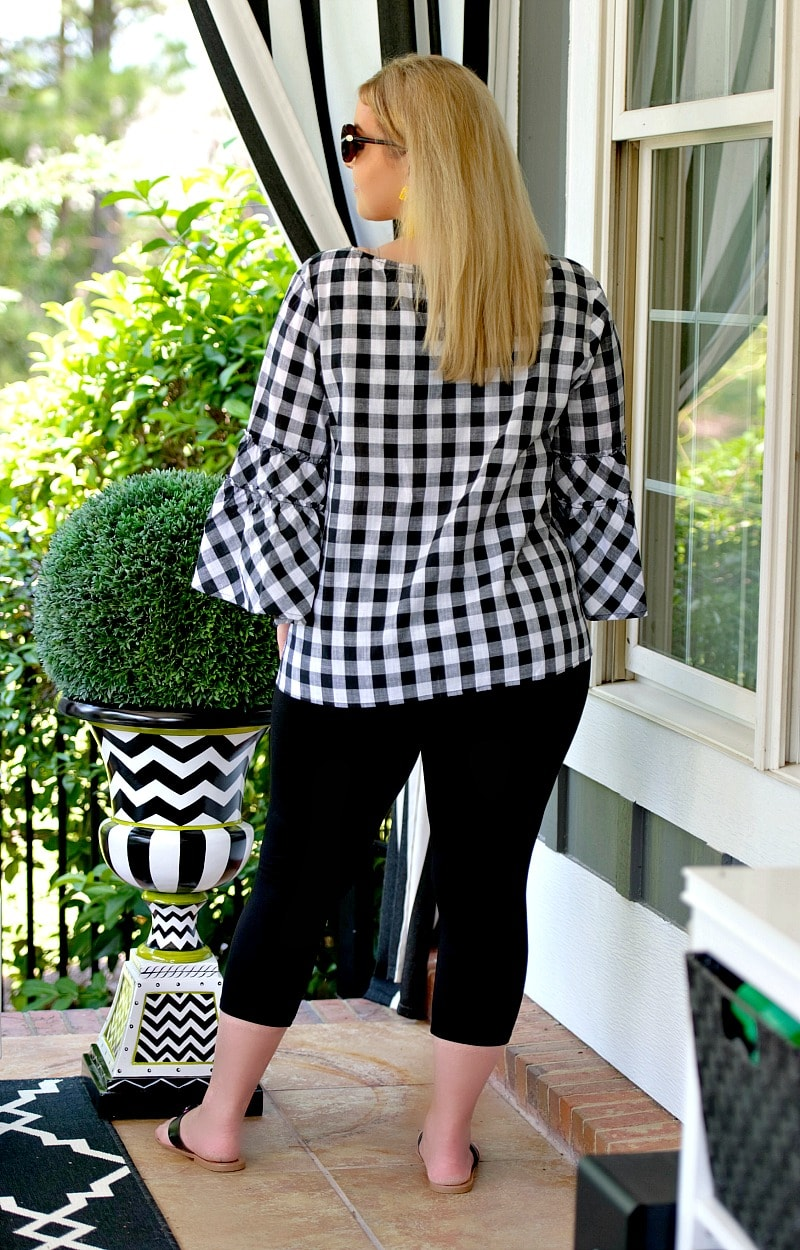 Be Fearless Plaid Top - Black/White