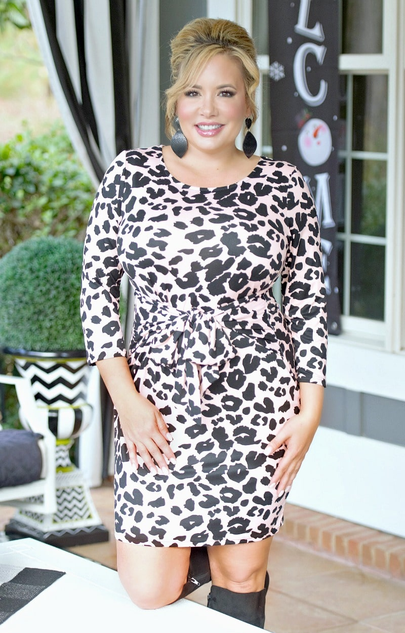 Load image into Gallery viewer, Give Me Love Leopard Print Dress - Pink