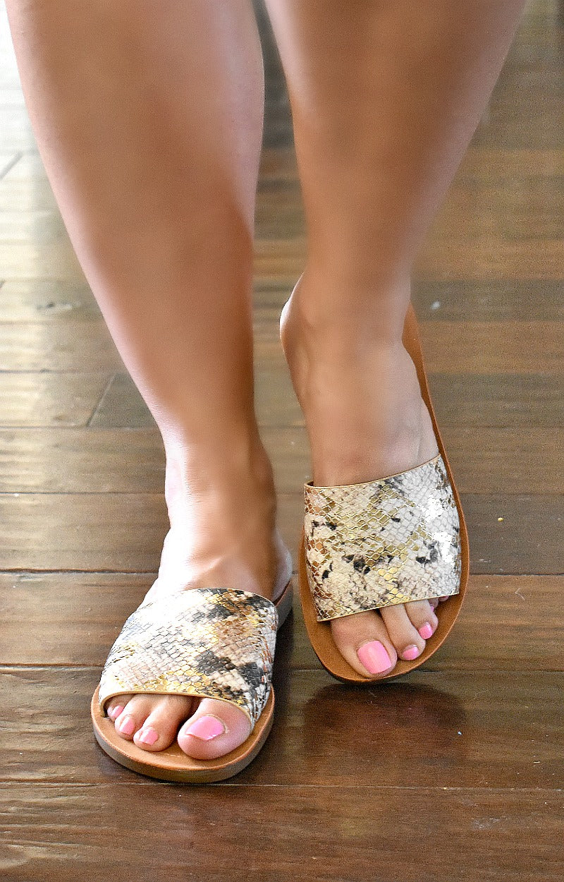 Plot Twist Snake Print Slides