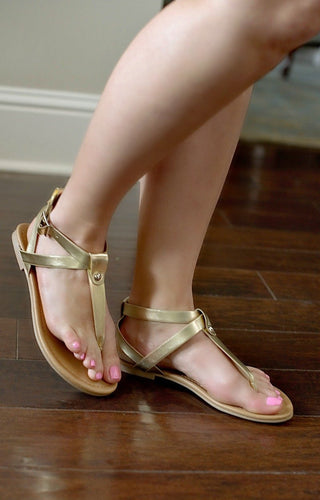 Pure Innocence Sandals - Gold