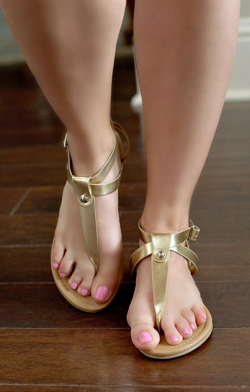 Load image into Gallery viewer, Pure Innocence Sandals - Gold