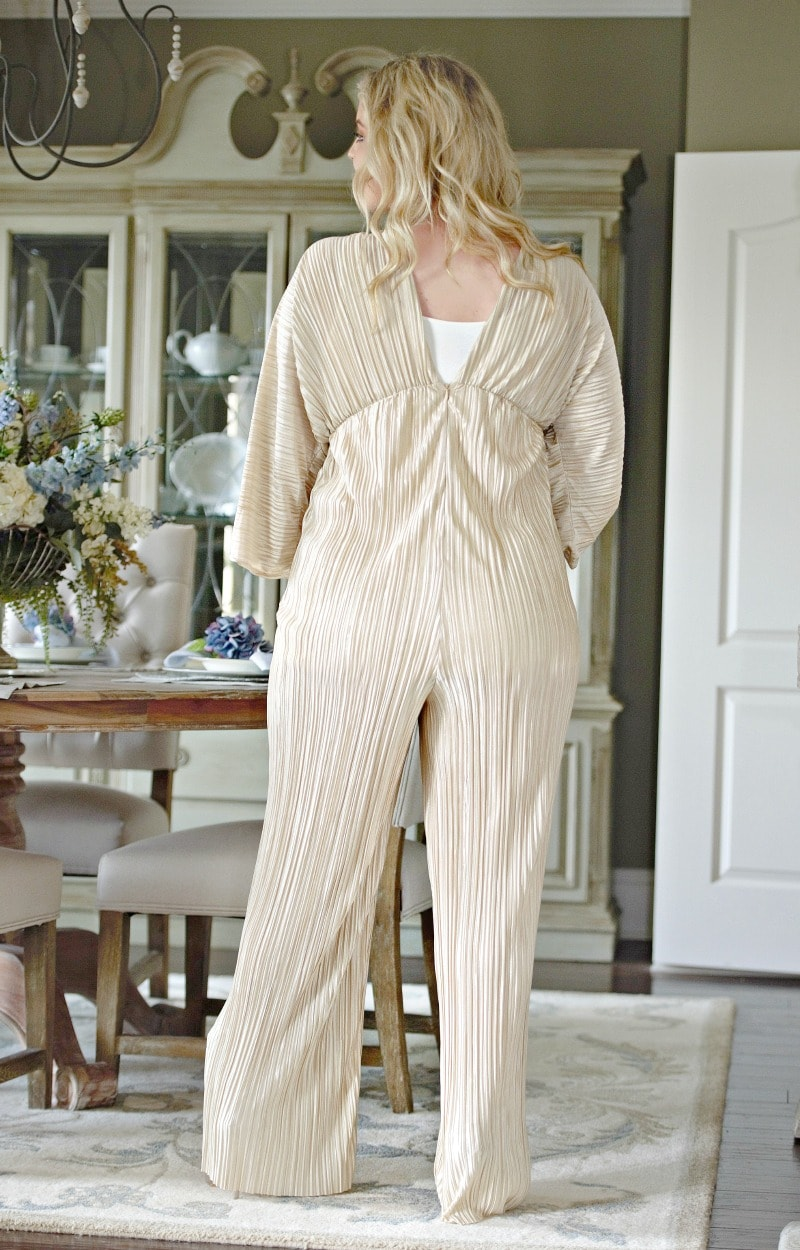 Invitation Only Jumpsuit - Champagne
