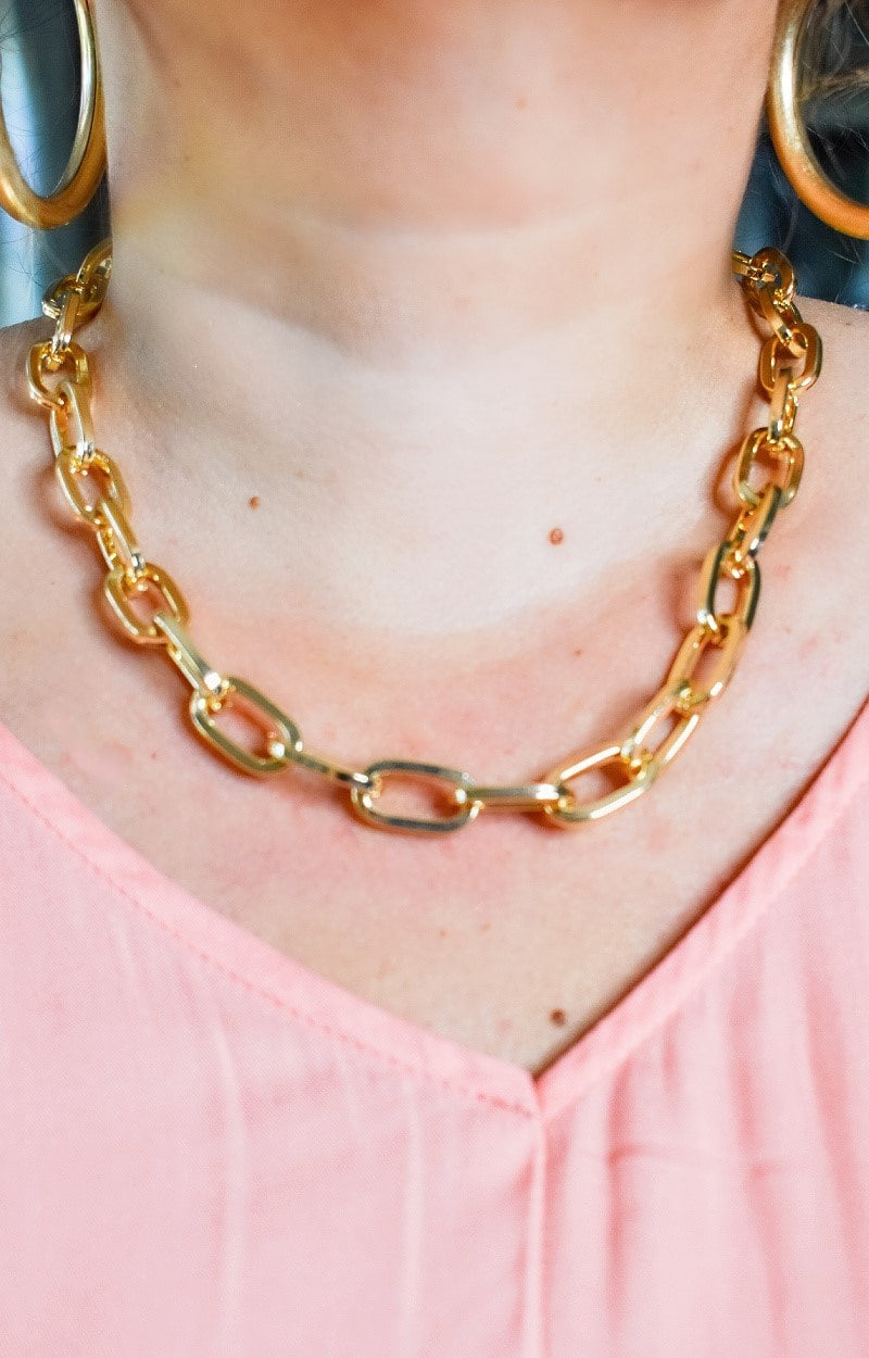 Chained To This Feeling Necklace - Gold