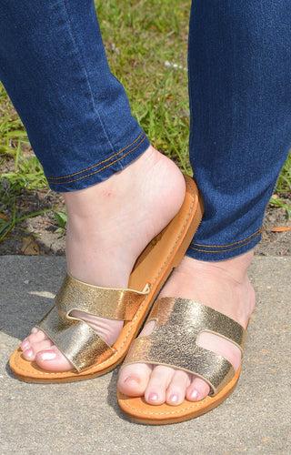 Maintaining Standards Sandal - Gold