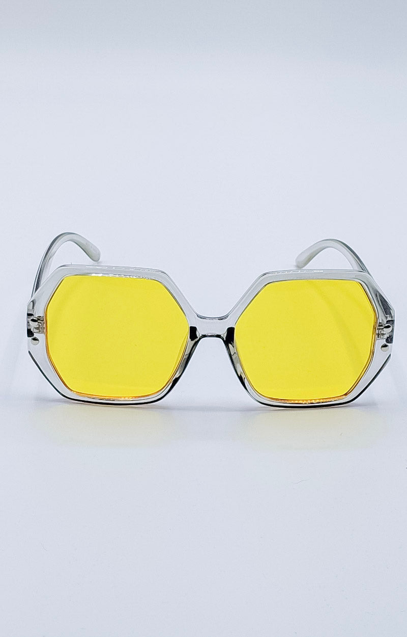 Load image into Gallery viewer, Cooler Than You Sunglasses - Gray/Yellow