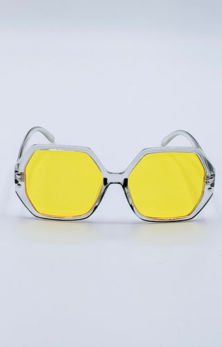 Cooler Than You Sunglasses - Gray/Yellow