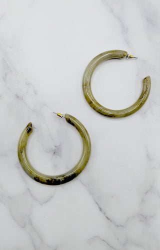 Lucky For Me Earrings - Olive