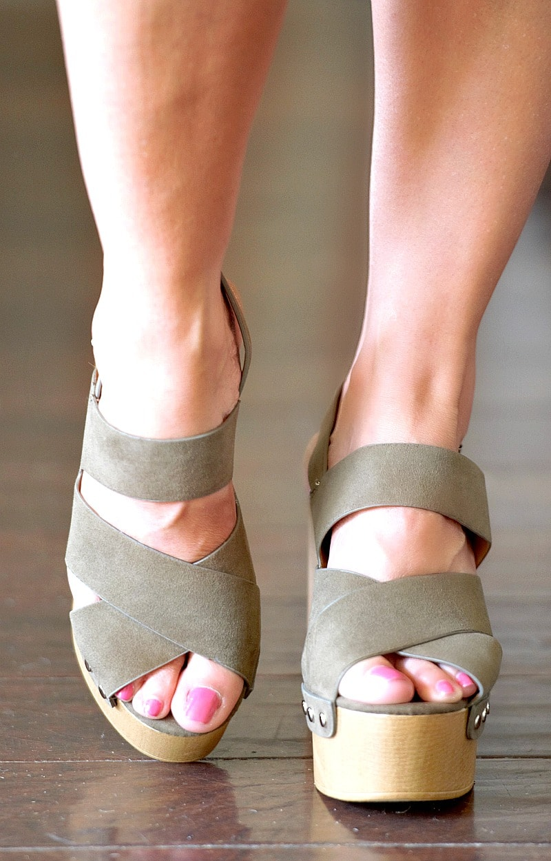 Load image into Gallery viewer, Confidence Booster Heels - Olive