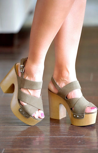 Confidence Booster Heels - Olive