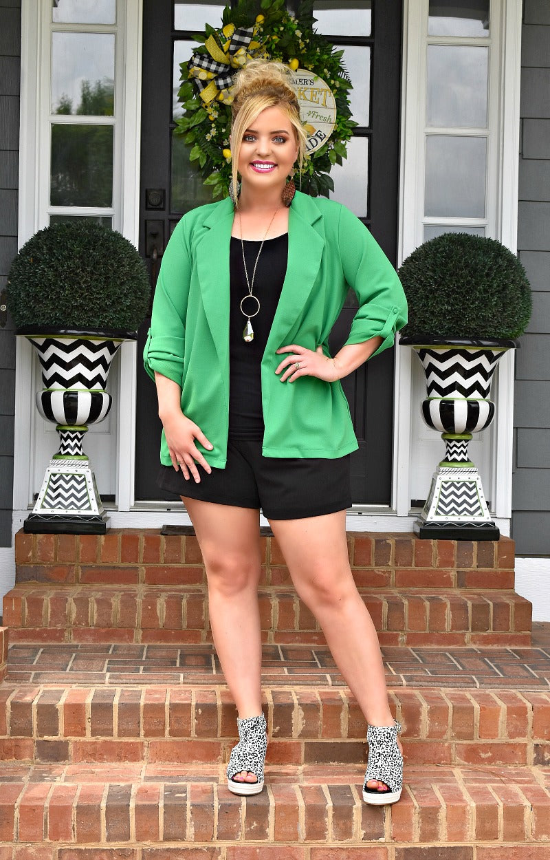 Load image into Gallery viewer, Boss Babe Blazer - Kelly Green