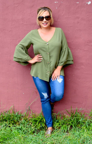 More Than A Memory Top - Olive