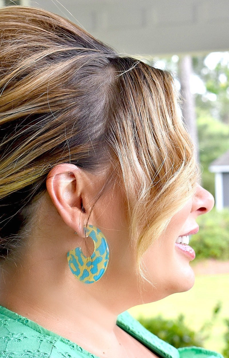 A Little Extra Earrings - Blue/Yellow