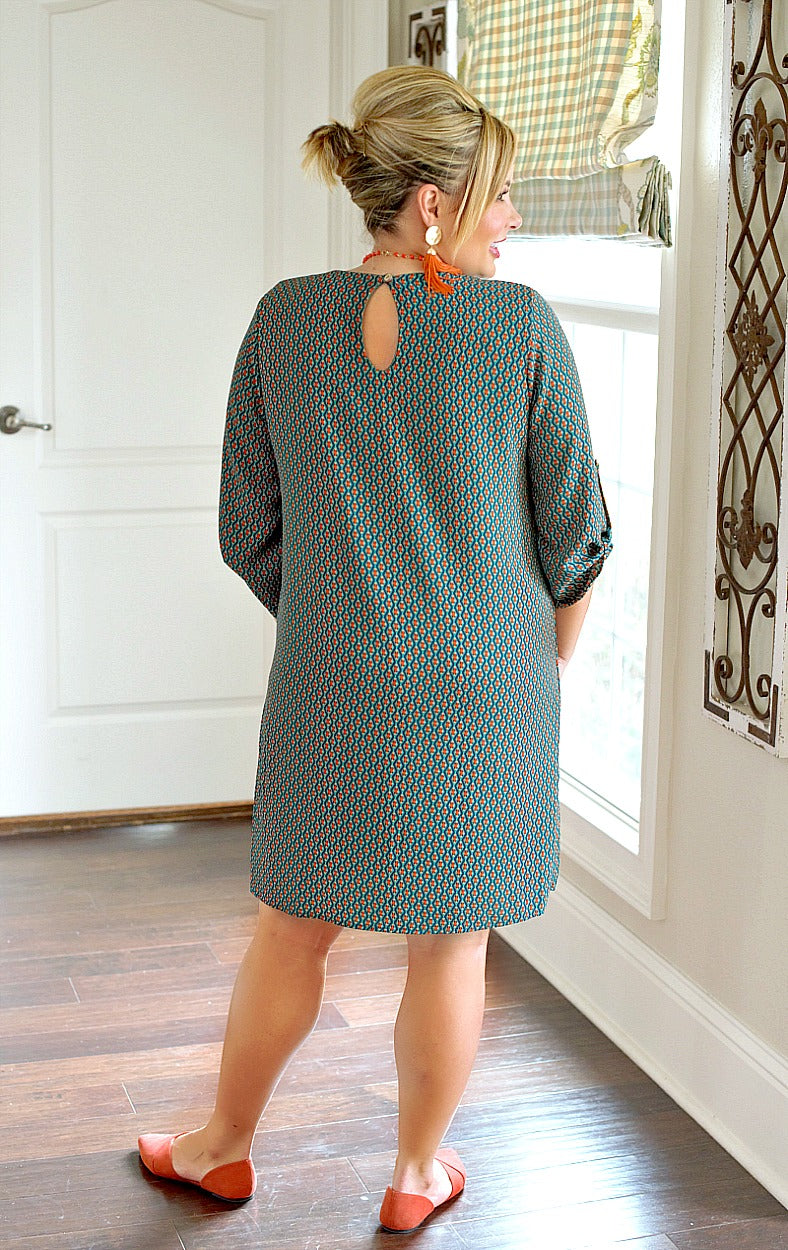 Load image into Gallery viewer, New In Town Print Dress - Green