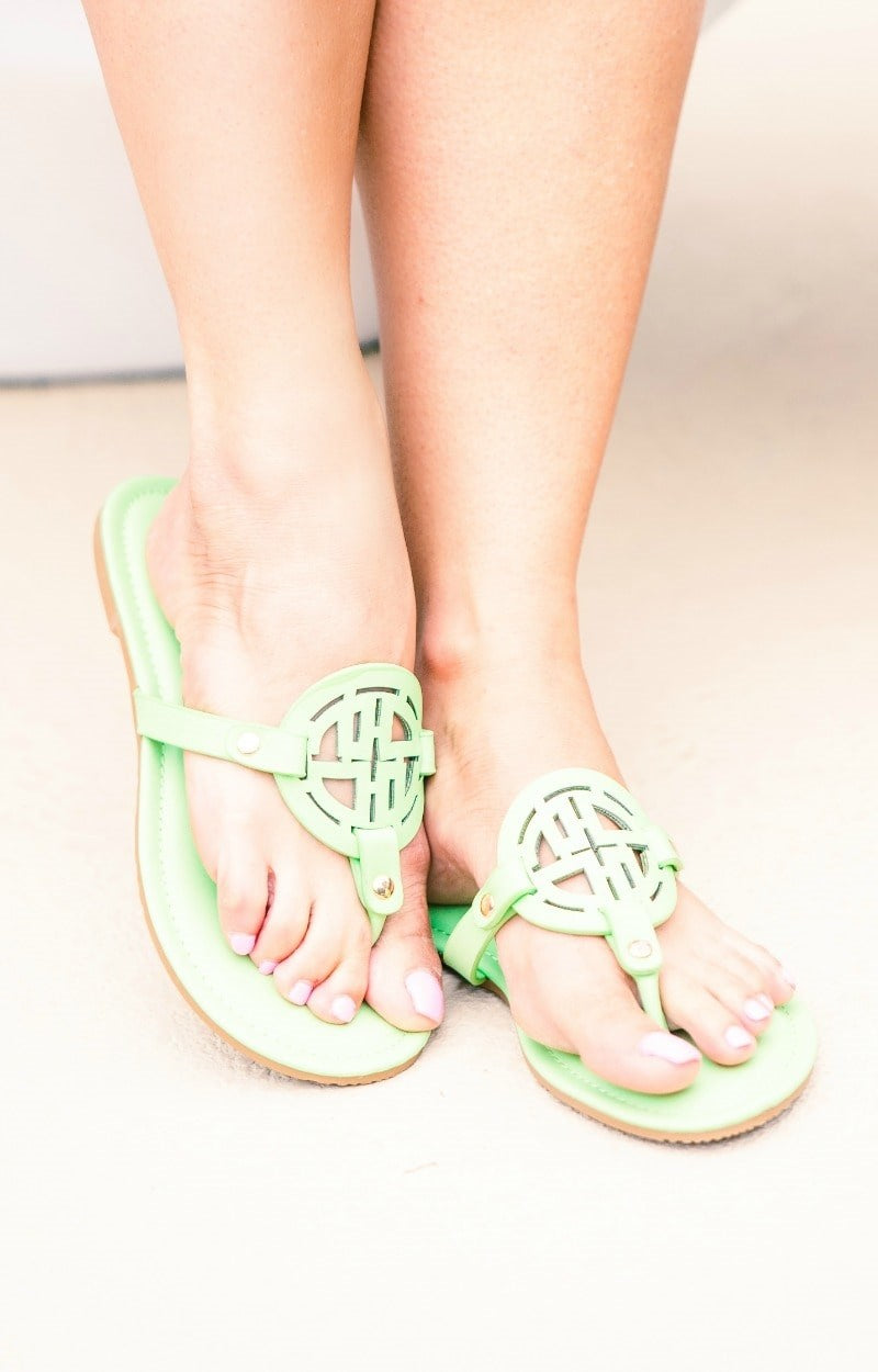 Make A Way Sandals - Powder Green