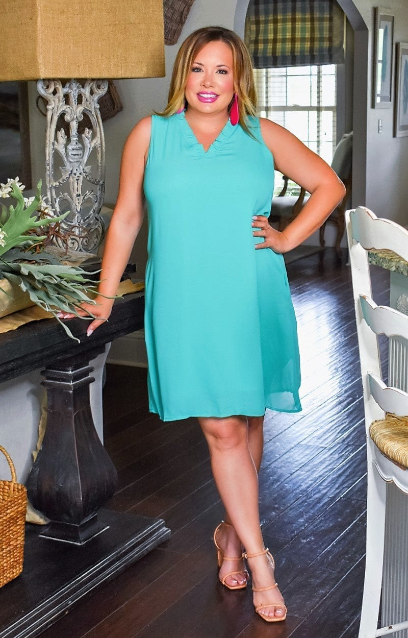 Load image into Gallery viewer, Think Again Dress - Dark Mint