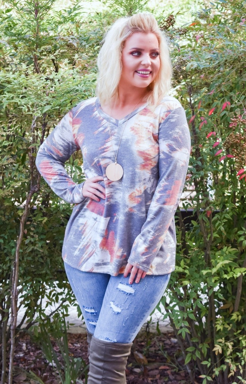 Pace Yourself Print Top - Olive/Multi