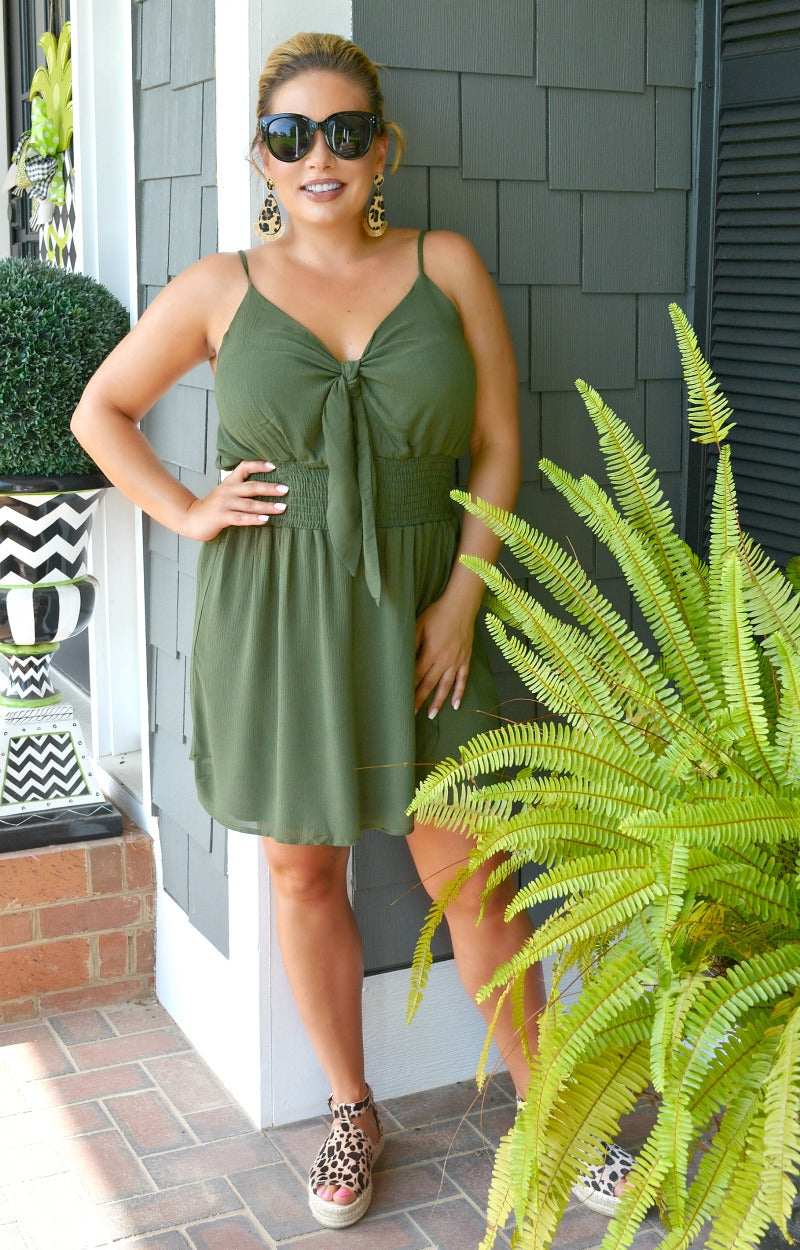 Load image into Gallery viewer, You Know You Need Me Romper - Olive