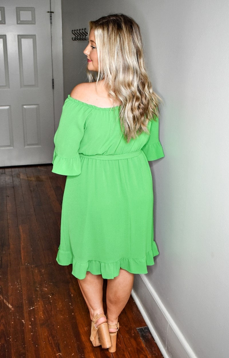 Load image into Gallery viewer, Only One Way Dress - Emerald