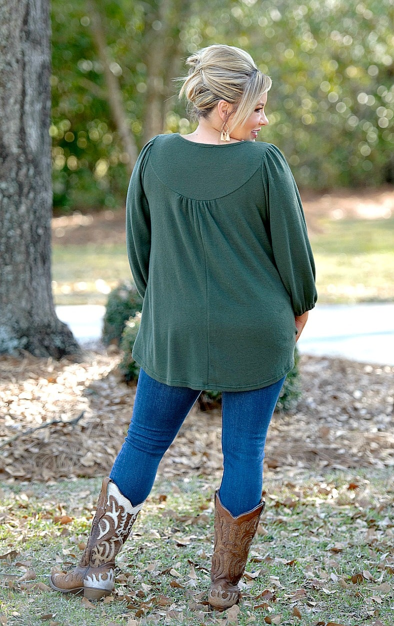 Just You & I Top - Olive