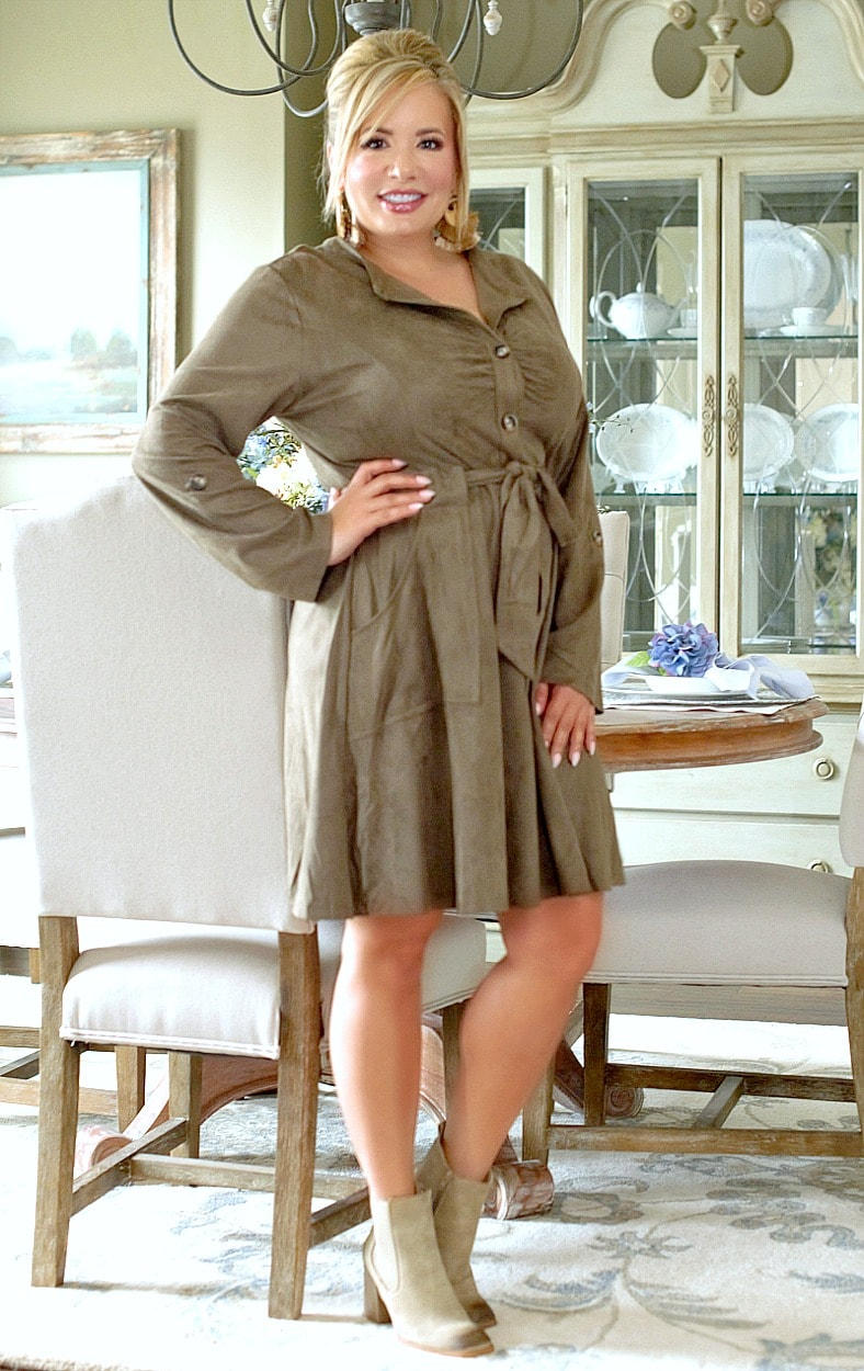 You Thinking Of Me Dress - Olive