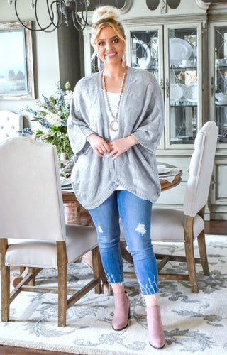 Clearly Perfect Cardigan - Heather Gray