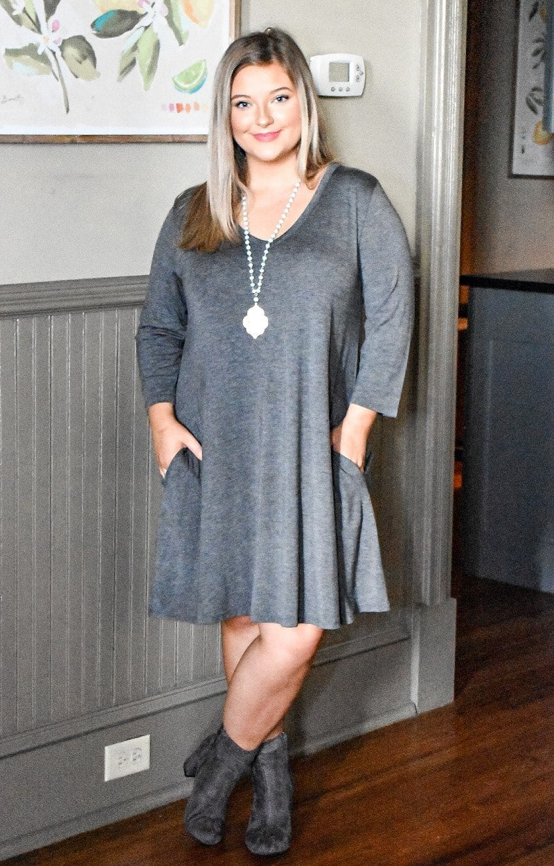 Can't Forget Me Dress - Charcoal