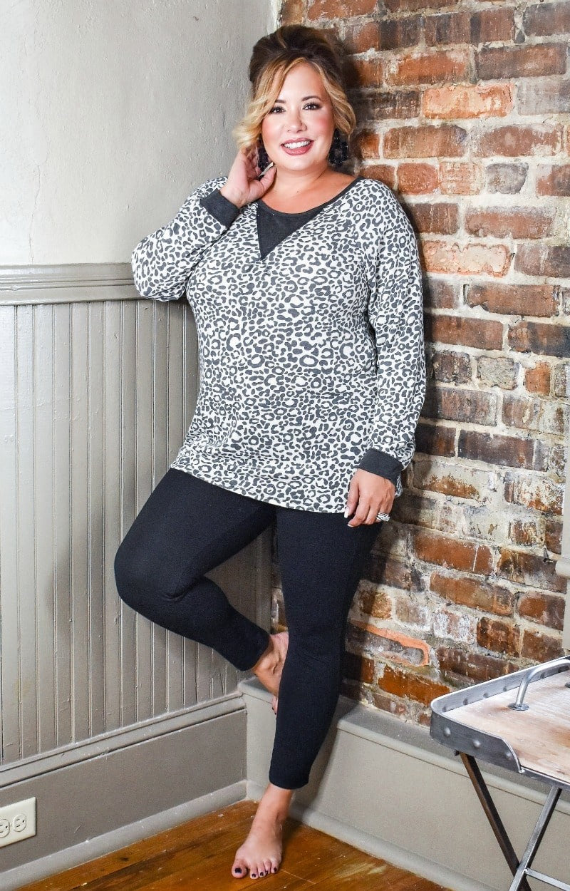Voice Of Reason Leopard Print Pullover
