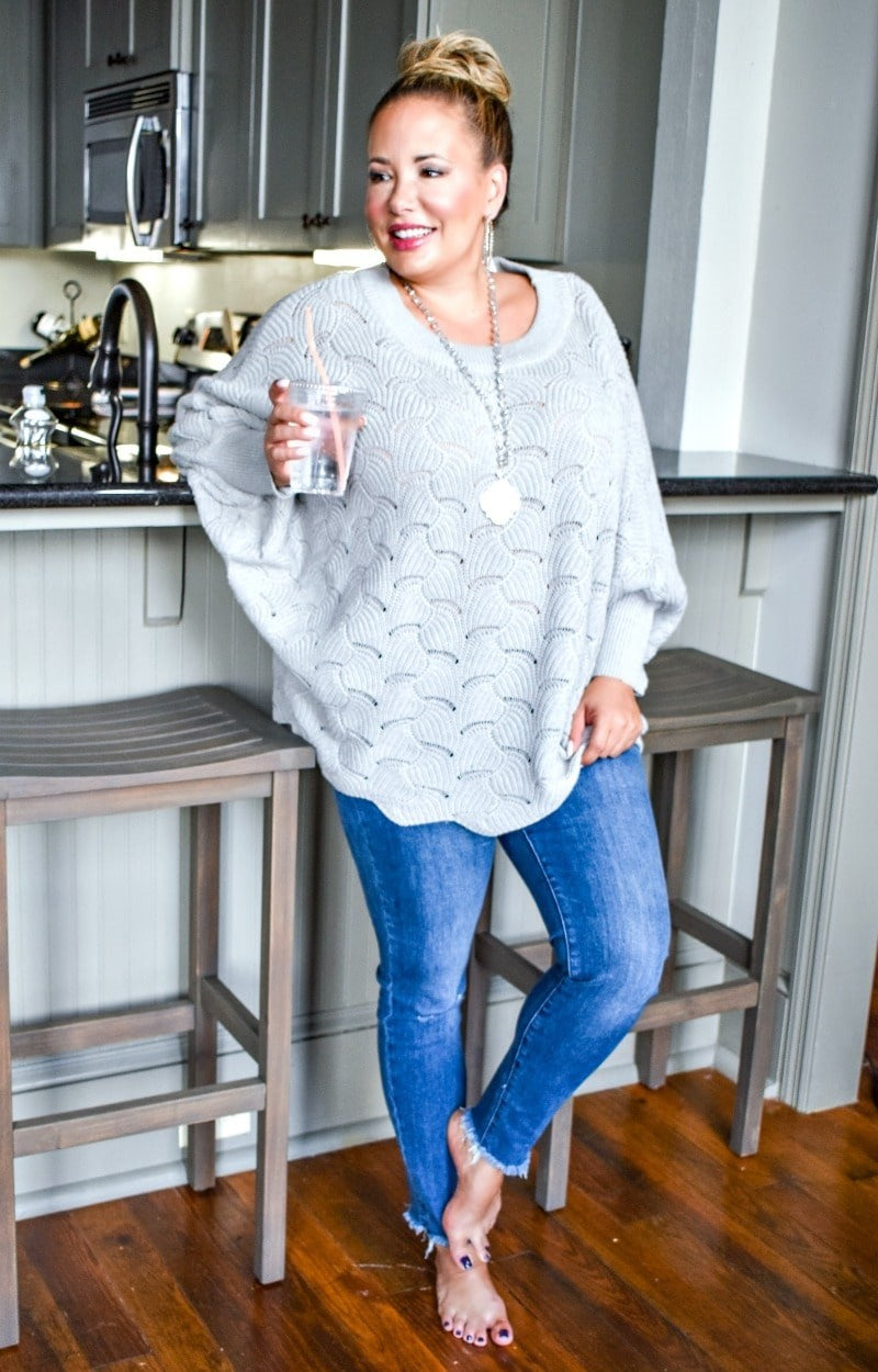 Load image into Gallery viewer, Cozy Weather Oversized Sweater - Gray
